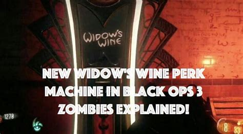 What new Widow's Wine perk does in Black Ops 3 – Product