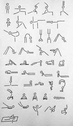 Yoga Stick Figure Learning Charts | Art: Drawing Tips and