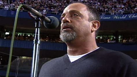 2000 WS Gm1: Billy Joel performs the national anthem - YouTube