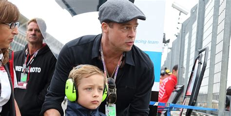 Brad Pitt & Knox Have a Father-Son Day at the British