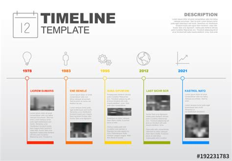 Horizontal Timeline Infographic with Photo Inserts and