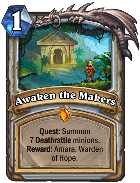 Hearthstone: Journey to Un'Goro adds quest cards, adapt