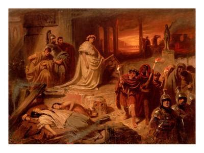 Nero on the Ruins of the Burning Rome Giclee Print by Karl