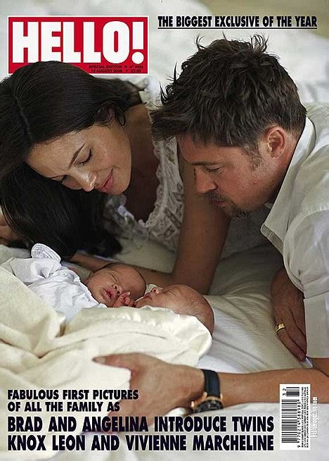 First pictures of Brad and Angelina's newborn twins - and