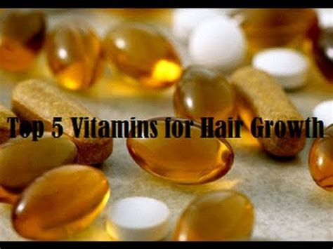 Top 5 Vitamins for Hair Growth - YouTube