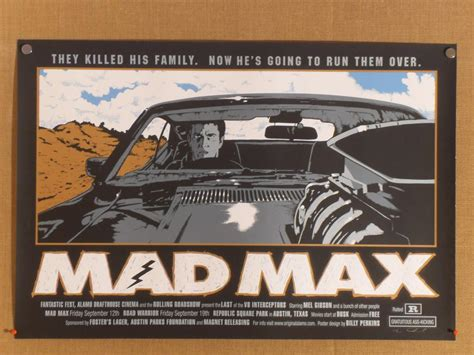 Mad Max (Alamo Roadhouse) Vintage Movie Poster - at