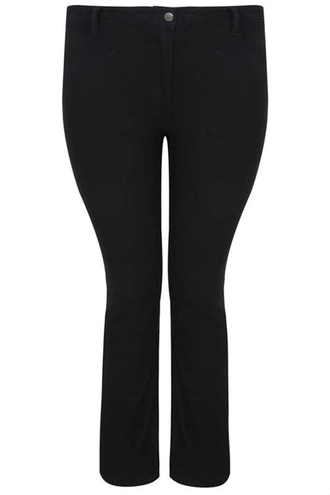 Black Straight Leg RUBY Jeans, Plus size 16 to 36