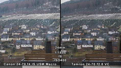 Canon 24 -70mm F4 IS USM vs Tamron 24-70mm F2