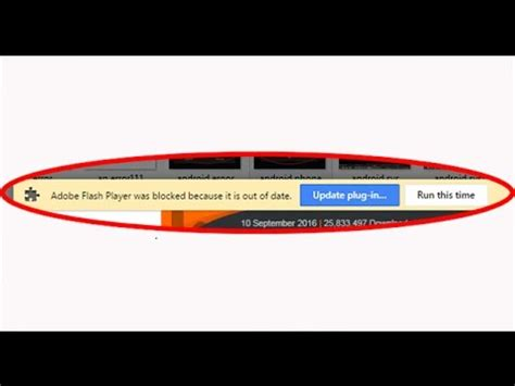 How to fix Adobe Flash Player was blocked because it is