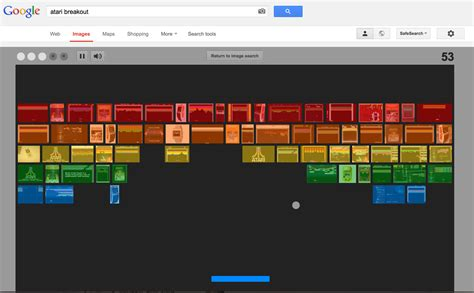 Google Images Easter Egg celebrate's Breakout's 37th birthday