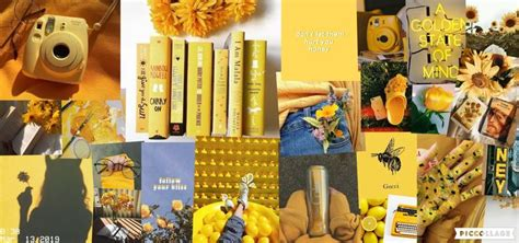 yellow collage wallpaper