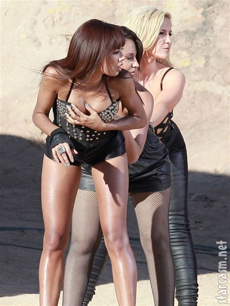 PHOTOS Sugababes sexy desert leather photo shoot PART TWO