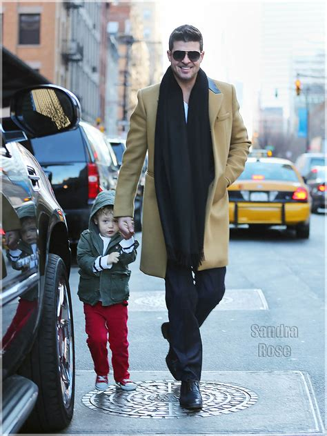 Robin Thicke takes son Julian Fuego Thicke to go see the