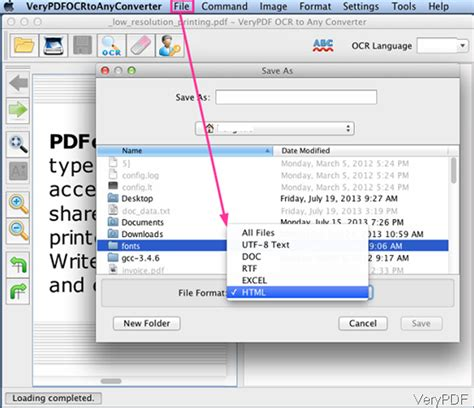 How to save image PDF as editable HTML file under Mac